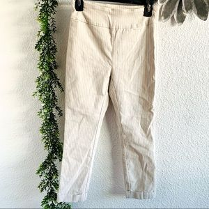 Tribal pull on flat front ankle pants with cuffs